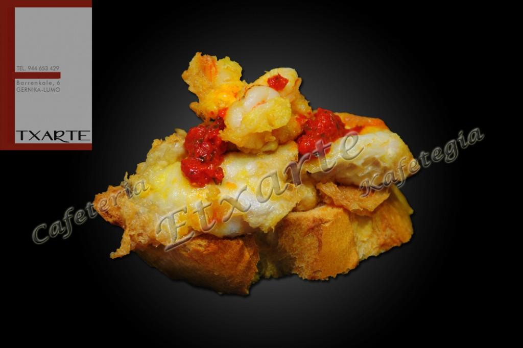 Kokotxa de bacalao con pimiento rojo